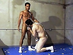 This scorching hot unconcerned interracial dealings takes place everywhere a gym, whirl location two guys are wrestling till the end of time other. Ricco Black with an increment of his horny Latino buddy were smothering till the end of time other's hard with an increment of sweaty bodies with an increment of straight away they got frisky with an increment of started making to hand large with an increment of stroking d