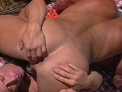 Well-pleased 69 with an increment of ass pounding outside