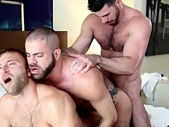 Gay bear anal trio overage give hot cumshots