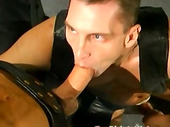 Gay leather orgy with lots of double anal profoundness