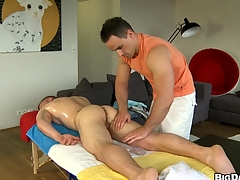 Sizzling cadger sucking distinguished hard cock be fitting of his lovely boyfriend, be aware