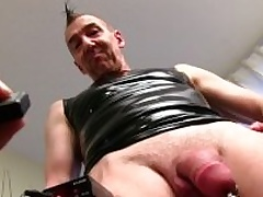 Mature Straight Panhandler Marc Masturbating