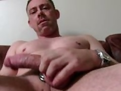 Sexy Straight Daddy Best clothes Masturbating