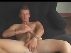 Aussie Old crumpet Next Door Cody Uses Dildo with an increment of Stokes His Big Cock