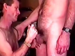 Mature guy added nigh pal nearly turns nigh suck